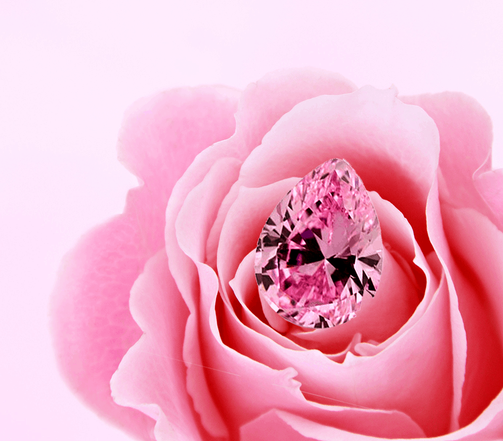 Pink Stone with a flower